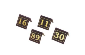 TABLE NUMBERS PLEXI GLASS